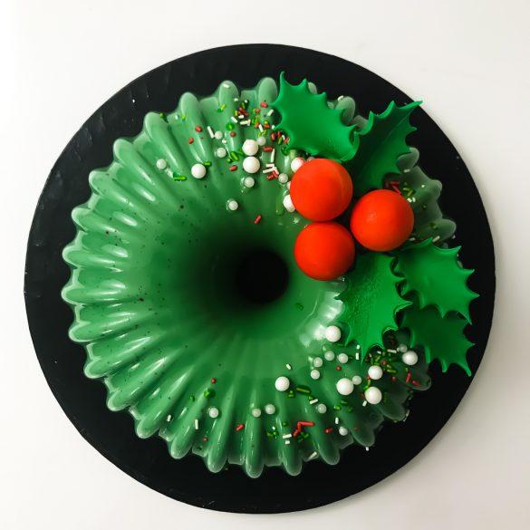 Mirror Glaze Xmas Cake